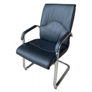 Ghế chân quỳ nệm bọc simili cao cấp màu đen MFC06