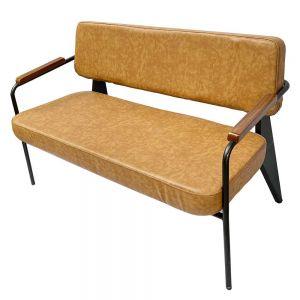 Ghế sofa băng Napa tay viền gỗ nệm bọc simili cao cấp SFB68040