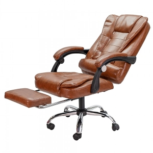 Ghế văn phòng ngả lưng có gác chân nệm bọc simili GAKJO-906