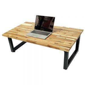 Bàn ngồi bệt 100x60cm gỗ tràm dày 25mm chân gấp thấp SGD008