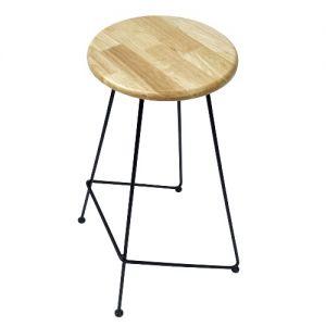 Ghế bar đơn giản mặt gỗ khung sắt GBAK009