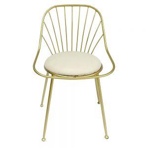 Ghế nệm khung màu vàng đồng GCF093