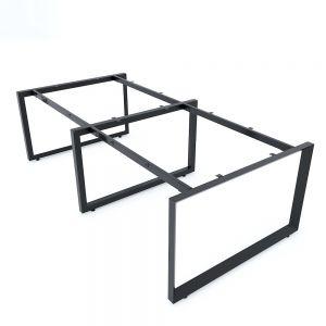 Chân bàn cụm 4 240x120cm chân sắt tam giác hệ Trian II HCTG020