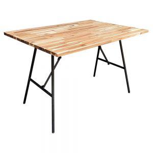 Bàn ăn ARGON gấp gọn 120cm mặt gỗ tràm BA68069
