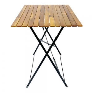 Bàn gấp gọn ngoài trời 60x80cm mặt gỗ tràm CFD68092