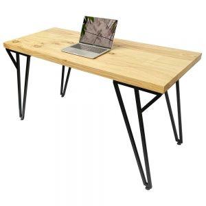 Bàn làm việc 140x60cm gỗ thông chân sắt chữ Y SPD68162