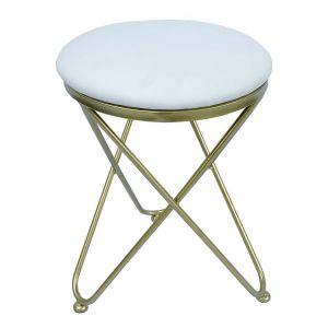 Ghế bàn trang điểm chân chữ V vàng đồng GTD013