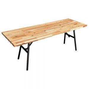 Ghế băng ARGON gấp gọn gỗ tràm dày 25mm GBD010
