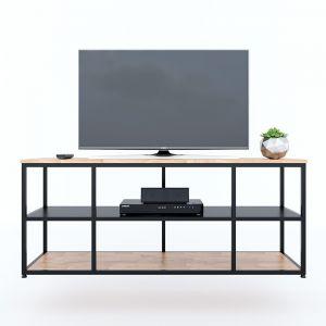 Kệ Tivi UNMA 140cm đơn giản khung săt gỗ cao su KTV68078