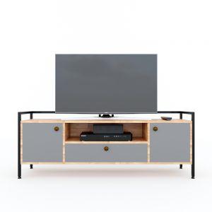 Kệ tivi hiện đại ALAN 140cm gỗ cao su khung sắt KTV68081