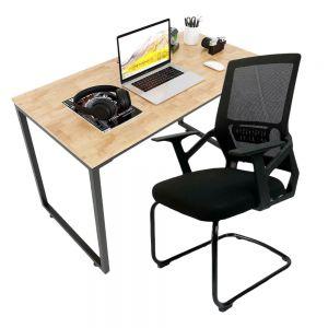 Combo bàn làm việc 120x60cm và ghế chân quỳ lưng lưới CB68143