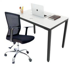 Combo bàn làm việc 120x60cm hệ Uconcpet và ghế chân xoay CB68137