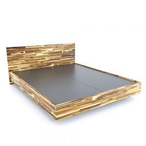 Giường ngủ 160x200cm gỗ tràm màu tự nhiên GN68037