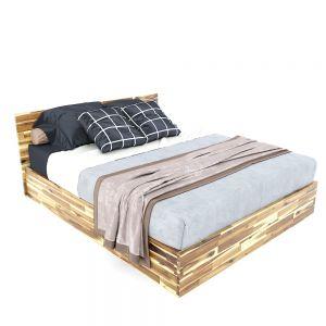 Giường ngủ 160x200cm gỗ tràm màu tự nhiên GN68038