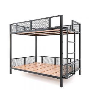 Giường tầng 140x200cm gỗ cao su khung sắt GT011