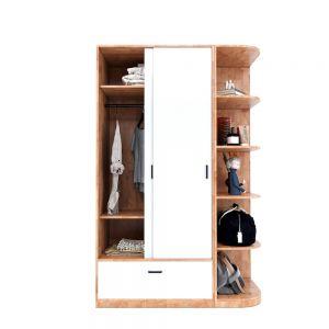 Module tủ quần áo cửa lùa kết hợp trang trí TQA68042