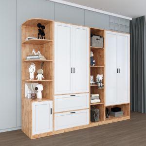 Module tủ quần áo hiện đại kết hợp kệ trang trí TQA68025