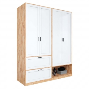 Module tủ quần áo 1m6 gỗ cao su TQA68028