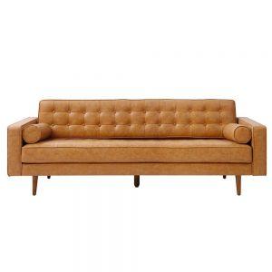 Sofa băng 220x82cm Loveseat 06 nệm nâu sang trọng SFB68046