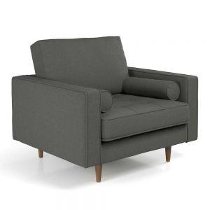 Ghế sofa đơn nệm bọc vải màu xám ArmChair 03 GSD68032