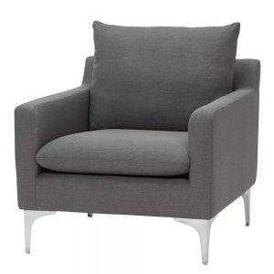 Sofa đơn nệm bọc vải chân inox ArmChair 11 GSD68040