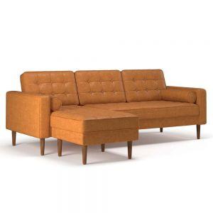 Sofa góc chữ L 220x82cm nệm bọc simili sang trọng SFL68020
