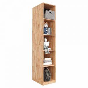 Tủ quần áo 5 tầng nhỏ gọn gỗ cao su TQA68019
