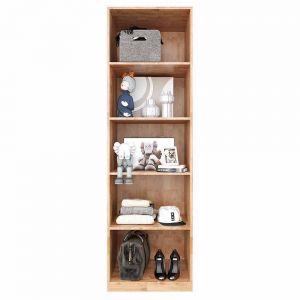 Tủ quần áo 5 tầng đơn giản gỗ cao su TQA68021