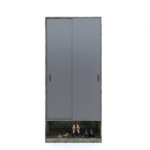 Tủ quần áo cửa lùa nhỏ gọn gỗ cao su TQA68037