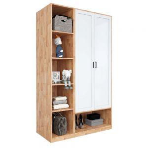 Module tủ quần áo hiện đại 1m2 gỗ cao su TQA68026