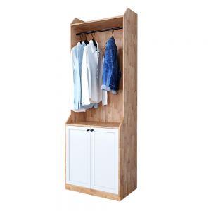 Tủ quần áo nhỏ gọn gỗ cao su tự nhiên TQA68031
