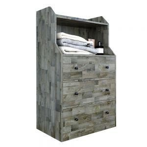 Tủ quần áo 3 ngăn kéo gỗ cao su TQA68032