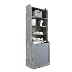 Tủ quần áo hiện đại nhiều tầng và có hộc gỗ cao su TQA68033