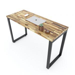Bàn làm việc 120x50cm gỗ tràm chân sắt hệ Rectang HBWD042