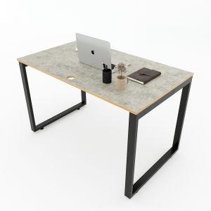 Bàn làm việc 120x70cm gỗ Plywood melamin màu bê tông hệ Rectang HBRT045