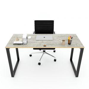 Bàn làm việc 140x60cm gỗ Plywood melamin màu bê tông hệ Rectang HBRT044