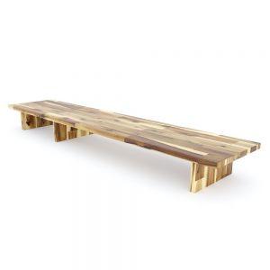Kệ để màn hình gỗ tràm màu tự nhiên MS68010