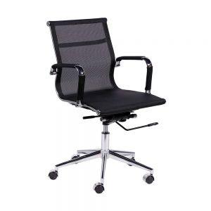 HOHA102 - Ghế lưới văn phòng lưng thấp chân xoay