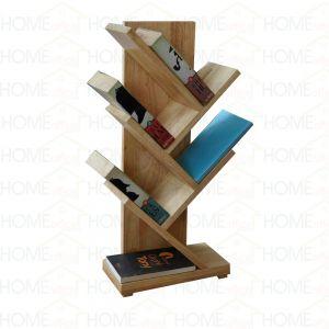 Kệ sách mini để bàn hình nhánh cây gỗ cao su KS68008