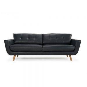 SF68006- Sofa băng nệm Simili đen