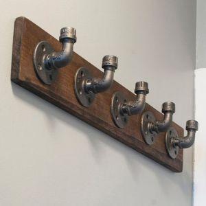 GQA68011 - Móc treo quần áo gắn tường bằng ống nước sắt - 80x12 (cm)