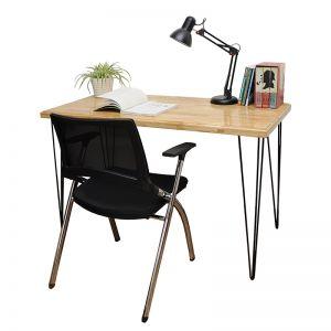 SHO68031 - Bộ bàn ghế ngồi học đơn giản có đèn - 120x60x75 (cm)