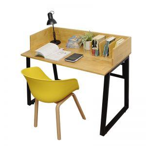SHO68030 - Bộ bàn ghế ngồi học liền kệ sách - 120x60x75 (cm)