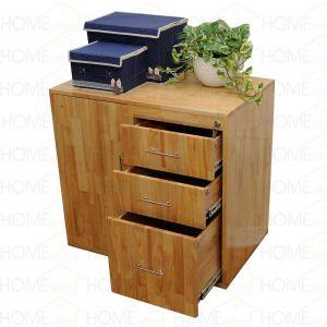 THS68001 - Tủ đựng hồ sơ văn phòng nhiều ngăn gỗ cao su - 80x50x75 (cm)