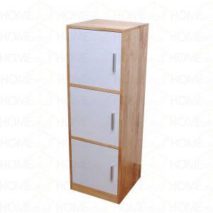 TCN68009 - Tủ hồ sơ văn phòng đứng 3 ngăn gỗ cao su - 40x120x40 (cm)