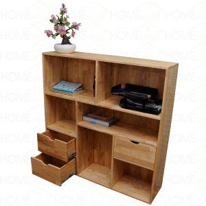 Kệ tủ hồ sơ văn phòng có ngăn kéo gỗ cao su 120x30x120(cm) THS68007