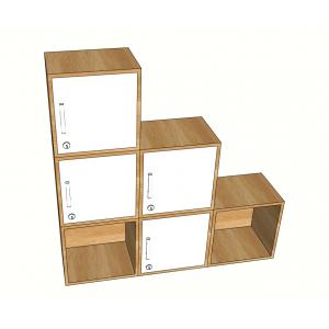 Bộ 6 tủ Locker trang trí tùy ý sắp xếp TCN68012