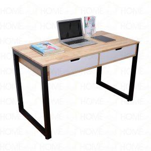 Bàn học 2 ngăn kéo chân sắt vuông - 120x60x75 (cm) BD68030