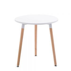 CFD68016 - Bàn cafe tròn mặt gỗ màu trắng