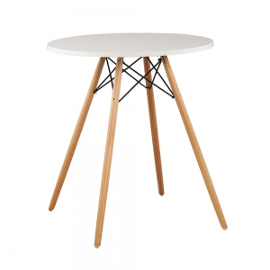 CFD68017 - Bàn cafe Eames tròn màu trắng